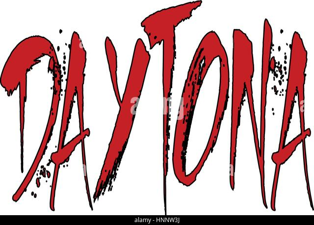 Daytona text sign illustration - Stock Image