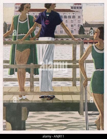 Swimwear Femina 1931 - Stock Image