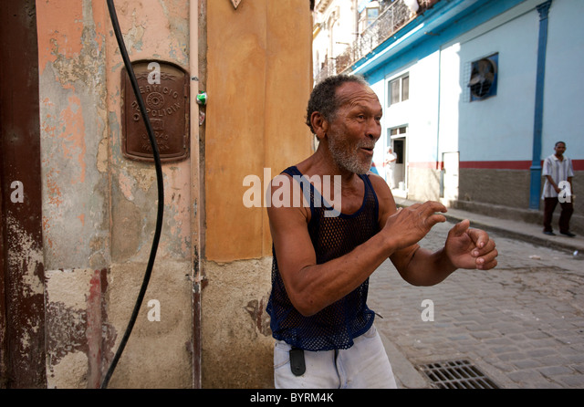 STREET PHOTOGRAPHY in cuba. - Stock Image