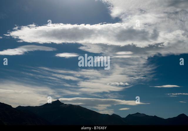 Clouds near Wanaka, South Island, New Zealand - Stock Image