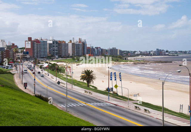 The Rambla, Montevideo, Uruguay, South America - Stock Image