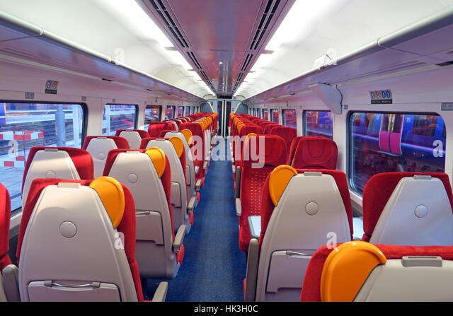 East Midlands train Carriage, Nottingham, England, UK - Stock Image