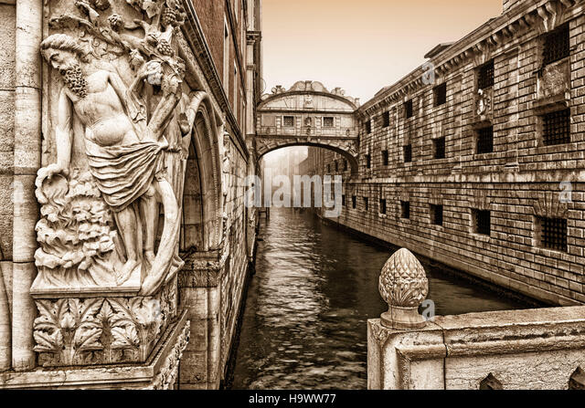 Bridge of Sighs, Venedig, Venezia, Venice, Italia, Europe, - Stock Image