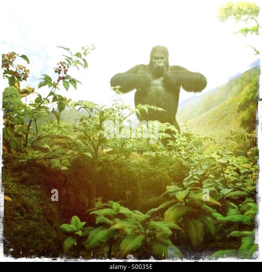 A fake Gorilla in a painted environment - Stock-Bilder