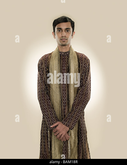Portrait of a hindu man - Stock Image