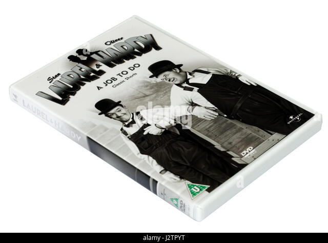 A Job to Do:  A Laurel and Hardy DVD of short films - Stock Image