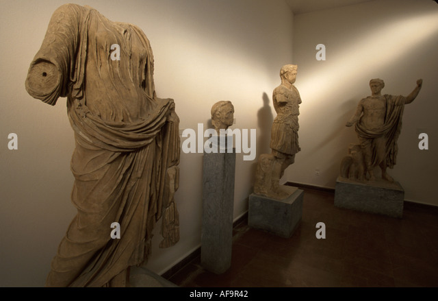 Greece Olympia Museum of Olympia Roman statues marble 100 to 300 A.D. - Stock Image