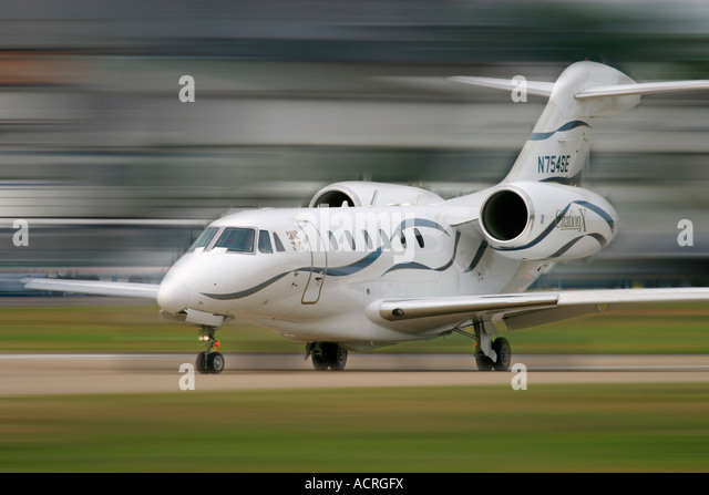 Business jet aircraft Cessna 750 Citation X - Stock Image