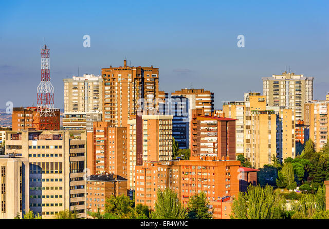 Madrid, Spain high rise buildings in the Chamartin District. - Stock Image