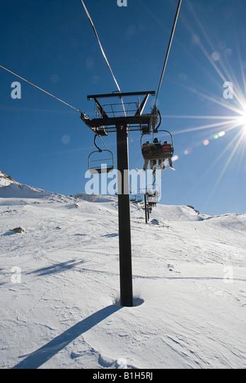Ski lift - Stock Image