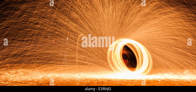 how to make steel wool sparks