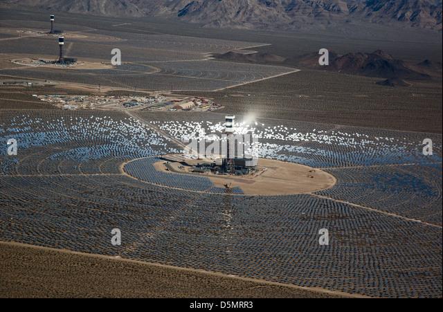 Ivanpah Solar Project - Stock Image