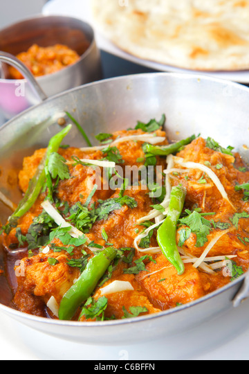 Chicken Balti, Indian food. - Stock Image