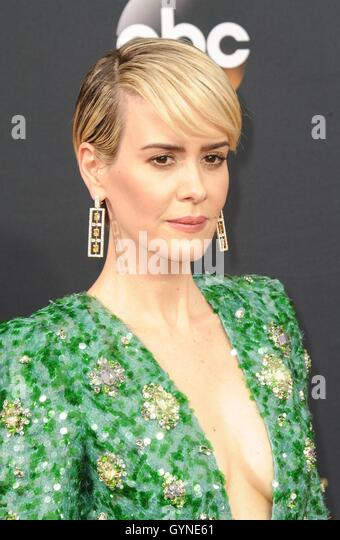 Los Angeles, CA, USA. 18th Sep, 2016. Sarah Paulson at arrivals for The 68th Annual Primetime Emmy Awards 2016  - Stock-Bilder