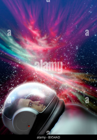 Space tourism, artwork - Stock Image
