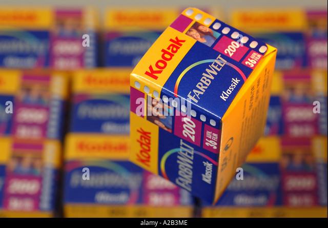 Photo films of Kodak - Stock Image