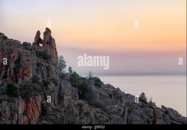 Le Coeur, Calanques de Piana, Piana, Corsica, France - Stock-Bilder