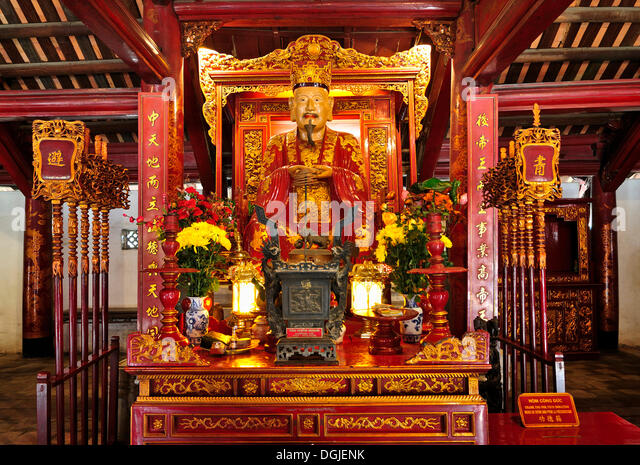 Temple of Literature, altar, Hanoi, Vietnam, Southeast Asia - Stock Image