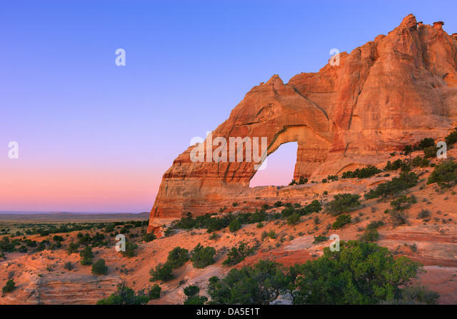 White Mesa Arch, in the north eastern part of Arizona, USA - Stock-Bilder