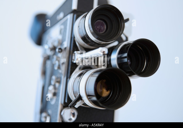 Close up of old fashioned film camera - Stock-Bilder