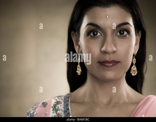 Portrait of a hindu woman - Stock Image