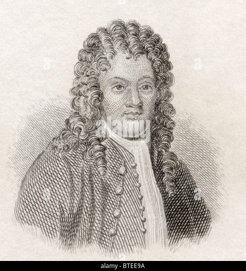 Sir Brook Taylor, 1685 to 1731. English mathematician, best known for Taylor's theorem and the Taylor series. - Stock-Bilder