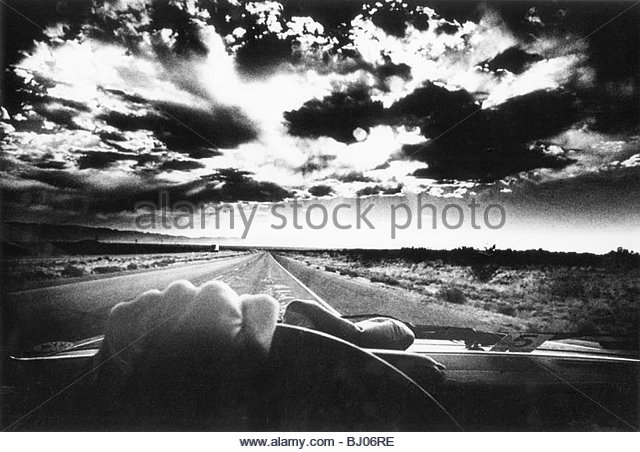 Night Driving, Texas, USA - Stock-Bilder
