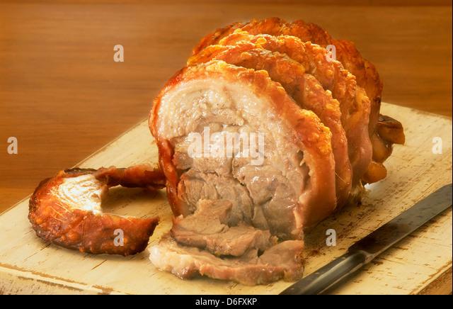 Roast pork - Stock Image