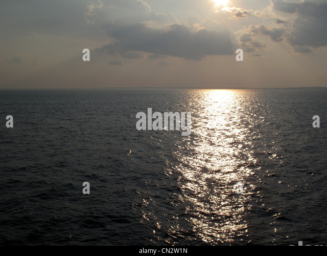 Atlantic ocean, sunset - Stock Image