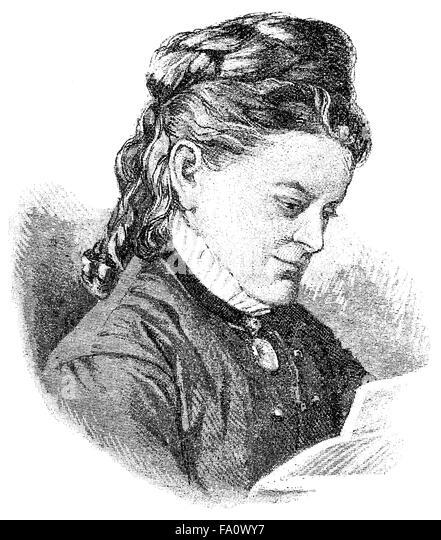 Ottilie Bach, pseudonyms O. Bach and Otto Ulrichs, 1836-1905, a German writer, - Stock-Bilder