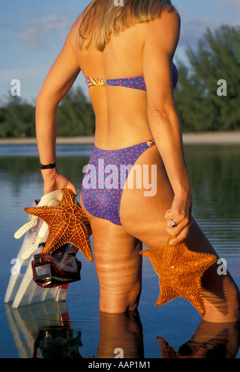 Tropics tropical woman snorkeler - Stock Image