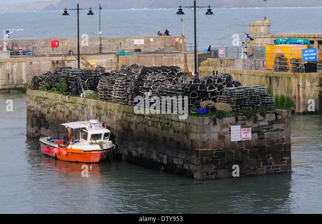 A view of Newquay Harbour Cornwall UK - Stock Image