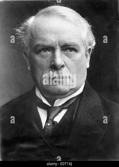 Portrait of Prime Minister David Lloyd George - Stock Image