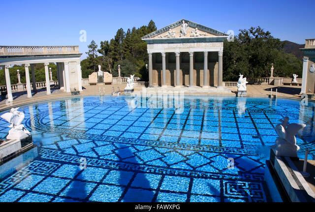 Hearst castle pool stock photos hearst castle pool stock - Hearst castle neptune pool swim auction ...