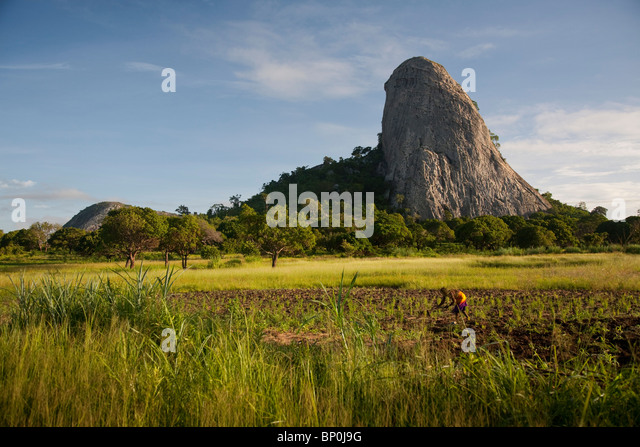 Mozambique, near Nampula. The stunning landscape of Northern Mozambique early in the morning. - Stock Image