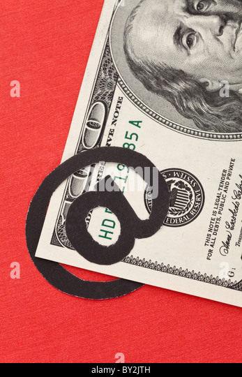 email and dollar, concept of E-commerce - Stock Image