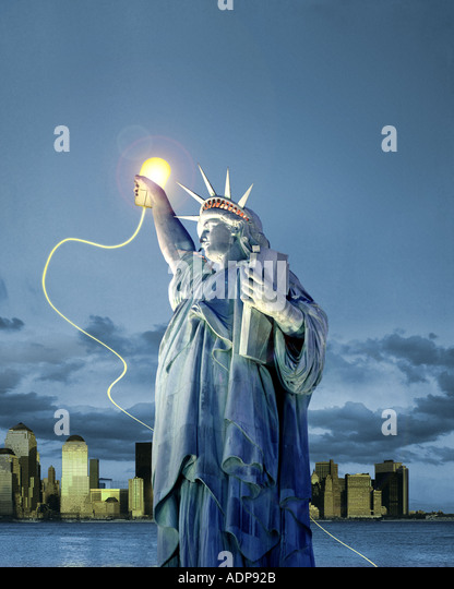 USA - NEW YORK: Liberty on-line concept - Stock-Bilder