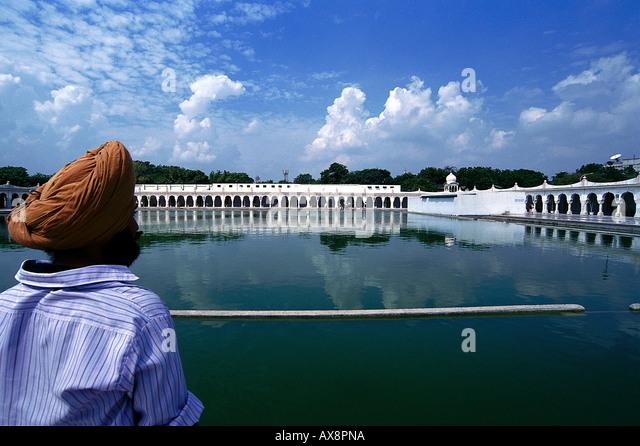 Sikh, Tempel, Delhi Indien - Stock-Bilder