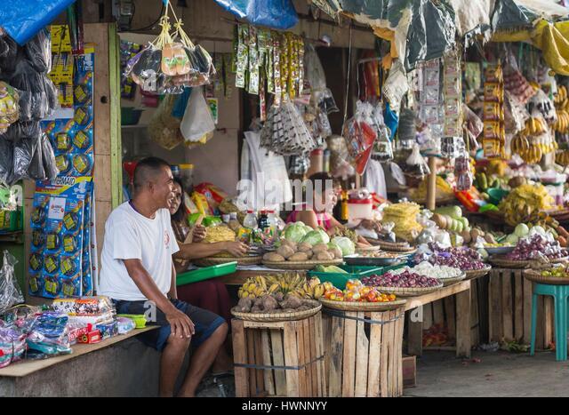 Philippines, Luzon, Sorsogon Province, Donsol, market - Stock-Bilder