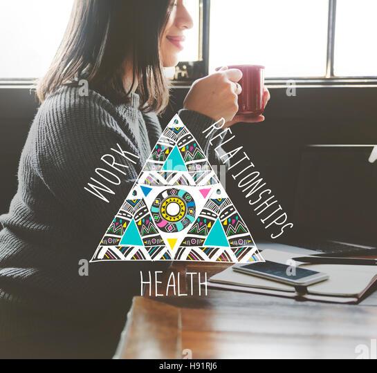 Work Relationships Health Balance Equal Stable Concept - Stock Image