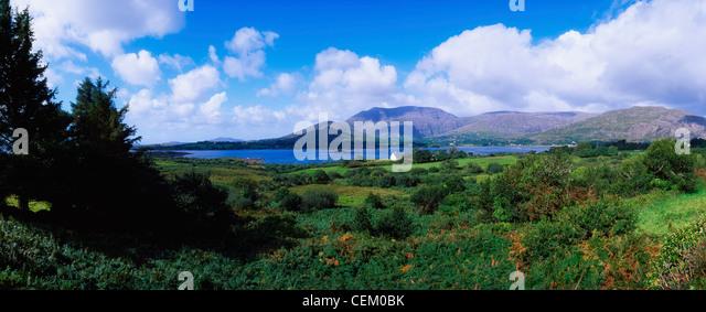 Co Cork, Hungry Hill, Adrigole Harbour & Village, Ireland - Stock Image