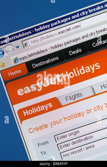 online travel booking easyjet holidays - Stock-Bilder