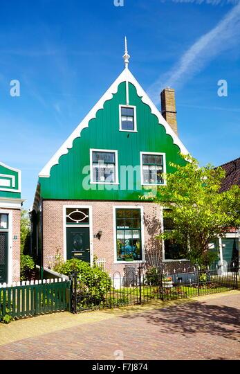 Traditional architecture in Zaanse Schans - Holland Netherlands - Stock-Bilder