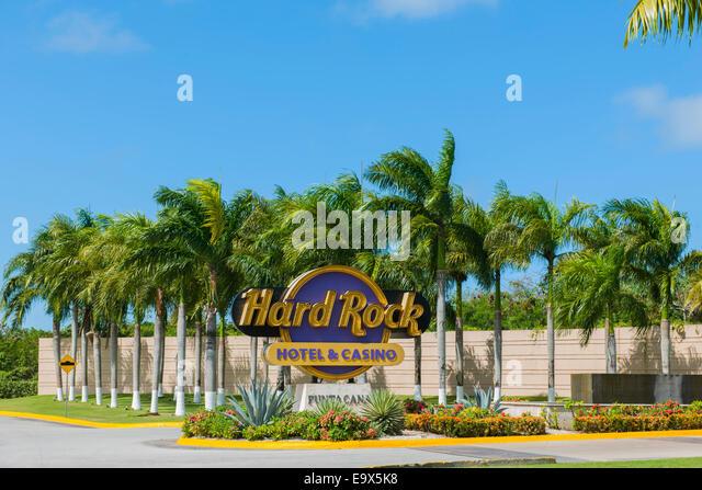 Dominikanische Republik, Osten, Punta Cana, Bavaro, Hard Rock Hotel - Stock Image