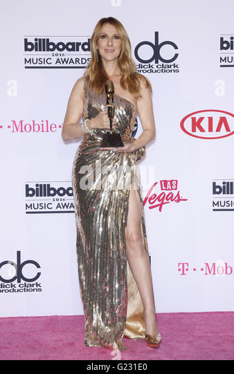 Las Vegas, NV, USA. 22nd May, 2016. 22 May 2016 - Las Vegas, NV - Celine Dion. 2016 Billboard Music Awards from - Stock Image