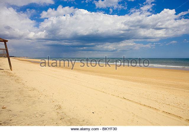 Beach at Isla Cristina, Playa del Hoyo, Province Huelva, Andalucia, Spain - Stock Image