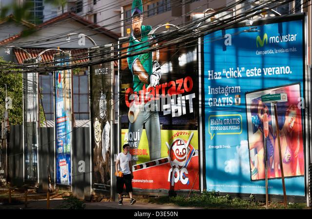 billboards, Panama City, Panama - Stock Image