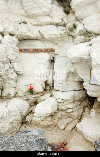 Holy well, Holywell, Eastbourne, natural spring water, East Sussex, England, UK - Stock Image