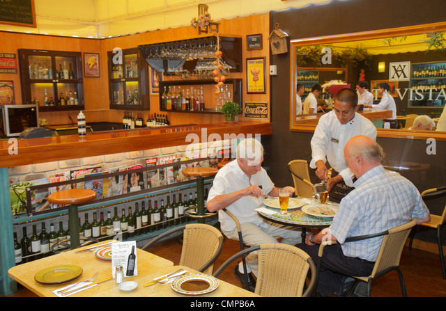 Lima Peru Miraflores Avenida Armendariz Danica Restaurant Cafe family restaurant Italian fusion business dining - Stock Image