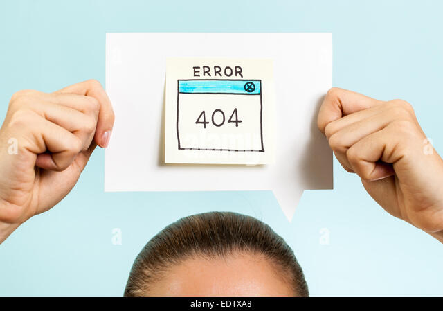 Internet error 404 page not found - Stock Image